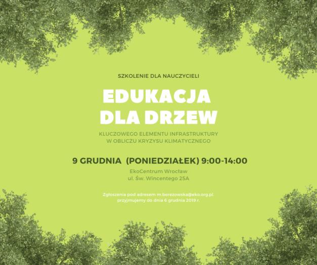 Edukacja dla drzew